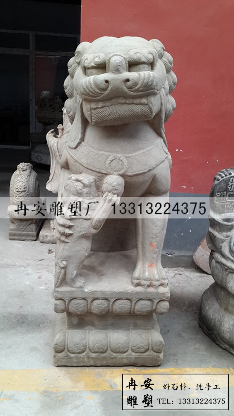 石雕狮子 仿古石雕狮子 辟邪狮子 雕刻石头狮子