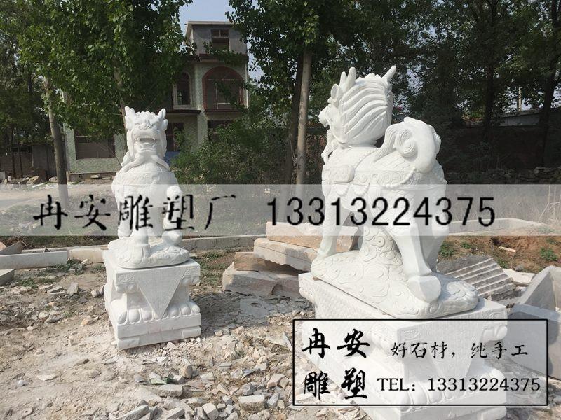 麒麟雕塑 跑起来的麒麟雕塑 汉白玉麒麟 奔跑的麒麟雕塑图