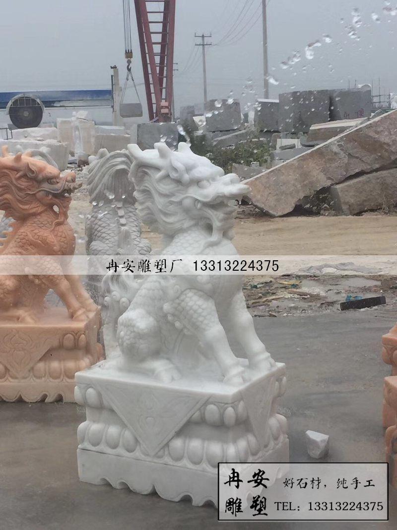 石雕麒麟现货 雕刻麒麟的厂家 风水镇宅麒麟 雕刻麒麟图片